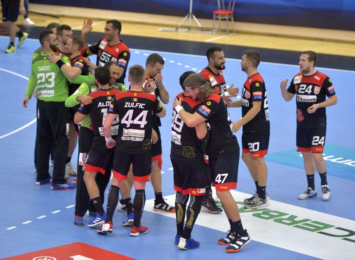 Dinamo - GOG Gudme 35-28 » VIDEO+FOTO Roș-albii înving în derby-ul cu GOG Gudme și sunt lideri în grupa din Liga Campionilor