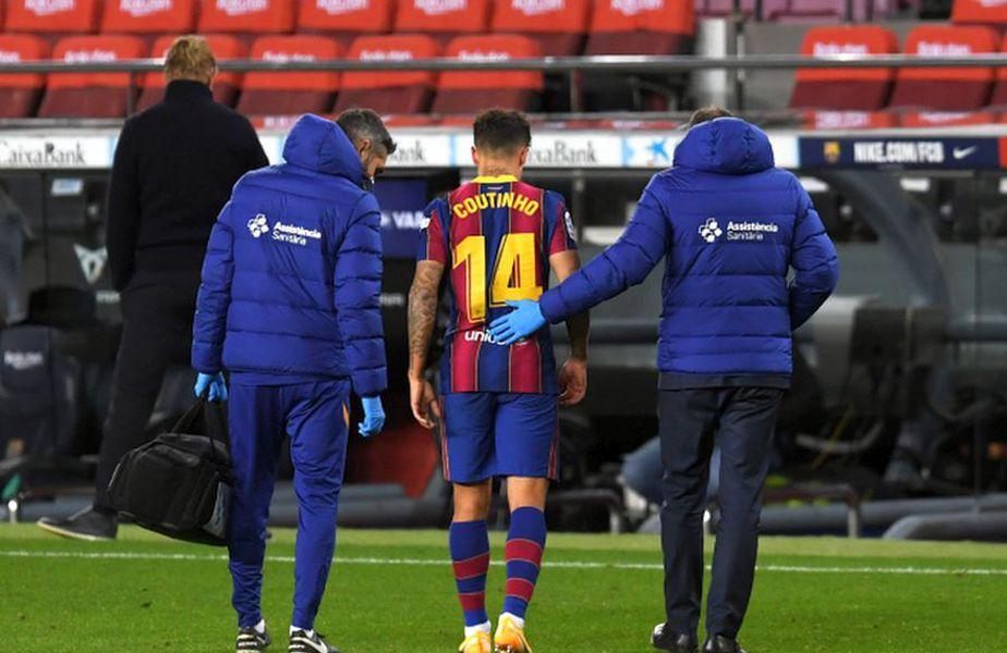 Philippe Coutinho, accidentat în Barcelona - Eibar // foto: Guliver/gettyimages