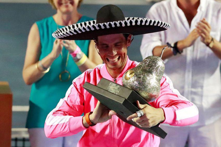 Rafael Nadal s-a impus la Acapulco pentru a treia oară în carieră // foto: Reuters