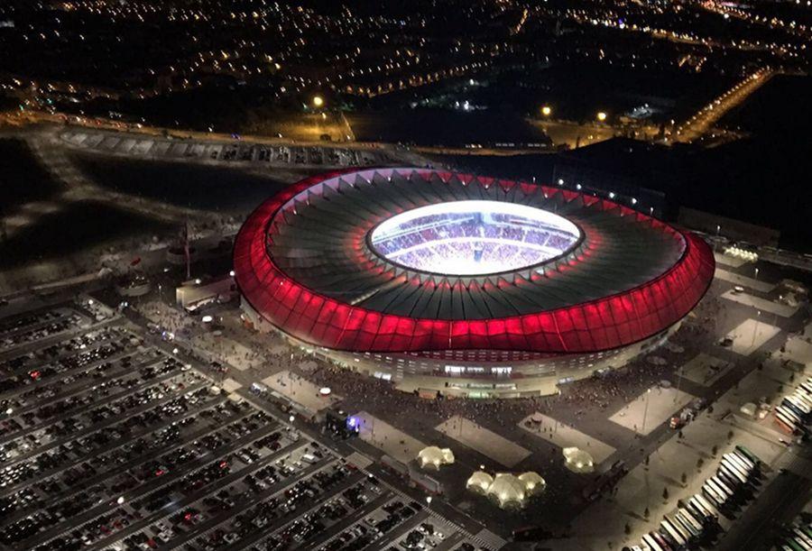 Wanda Metropolitano văzută din dronă FOTO Twitter