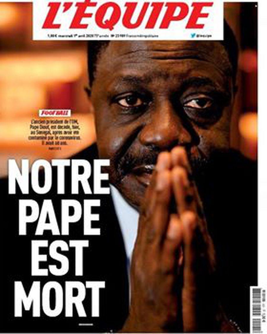 """Pape Diouf, fostul președinte al lui Marseille, răpus de COVID-19. L'Equipe titrează: """"Papa al nostru a murit"""""""