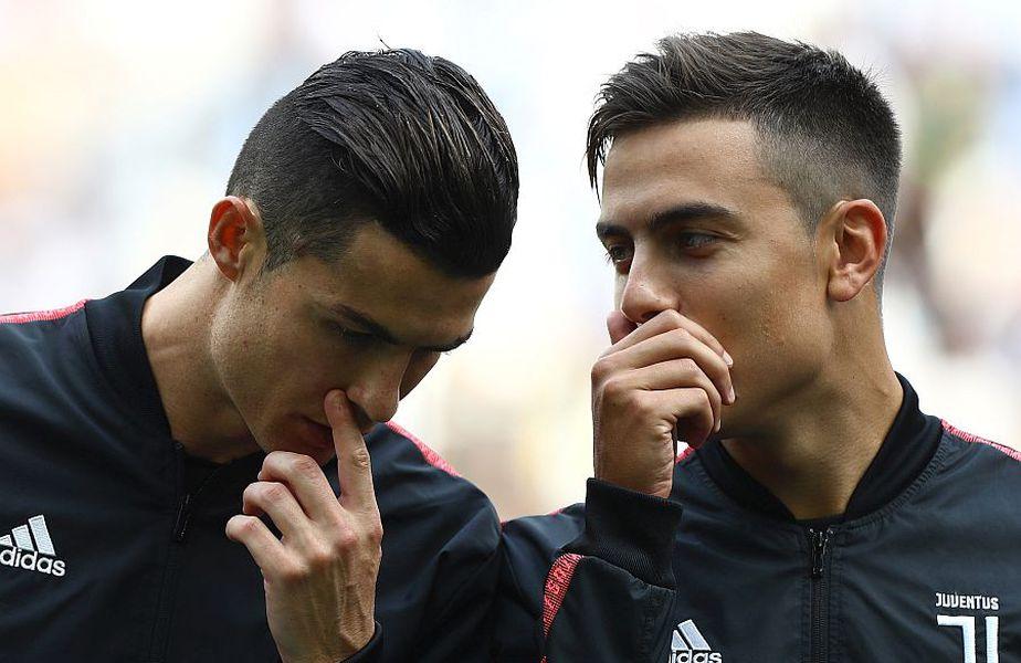 Cristiano Ronaldo și Paulo Dybala sunt colegi la Juventus // FOTO: Guliver/GettyImages