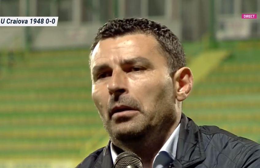 CS Mioveni și FC U Craiova au remizat, scor 0-0, în primul meci al play-off-ului din Liga 2. Eugen Trică, antrenorul oltenilor, laudă defensiva gazdelor @Captură Digi Sport