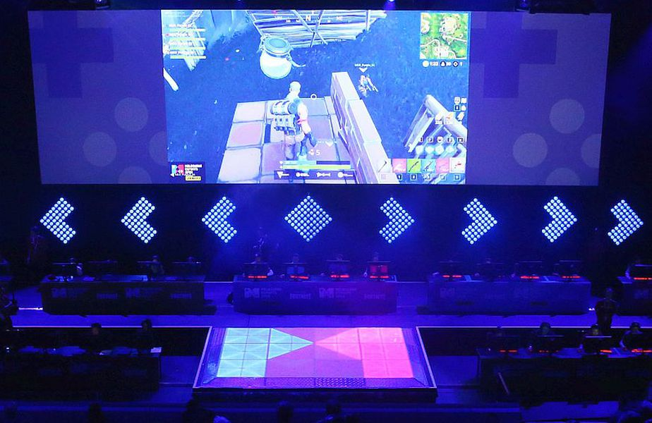 Arena Margaret Court, transformată pentru jocul online Fortnite, în 2018, foto: Guliver/gettyimages