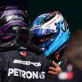 Lewis Hamilton și Valtteri Bottas pe Circuitul Internațional de la Algarve FOTO Imago