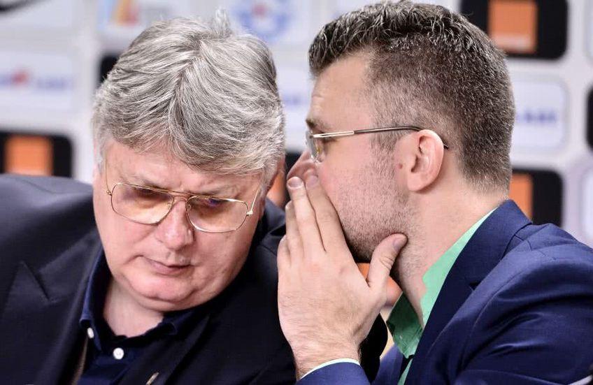 Justin Ștefan, în dreapta, vrea spectatori la meciurile din Liga 1