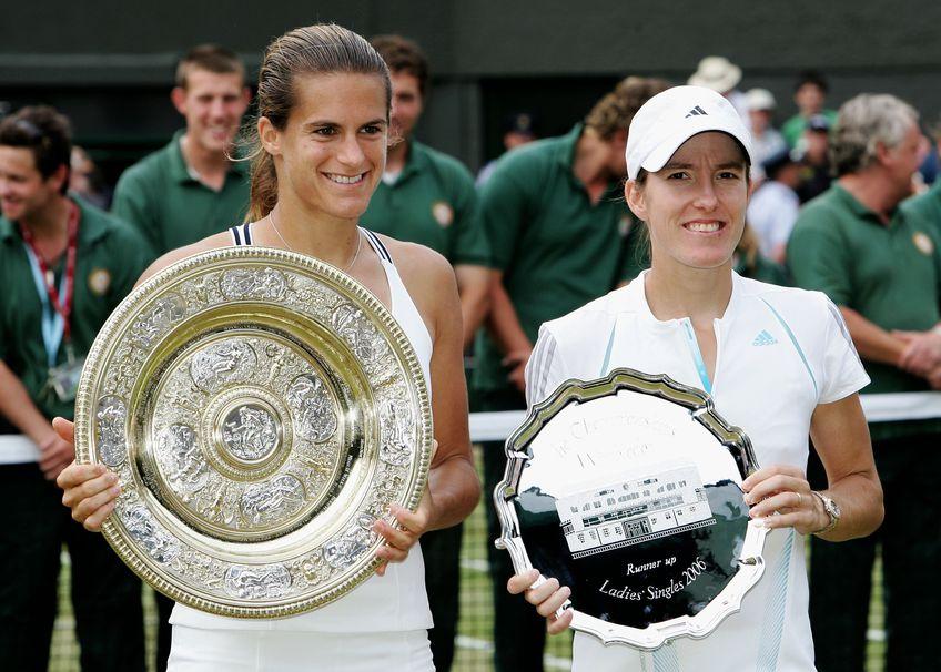 Amelie Mauresmo și Justine Henin în 2006, belgianca nu s-a impus niciodată la Wimbledon, deși a fost aproape în două rânduri FOTO Guliver/GettyImages