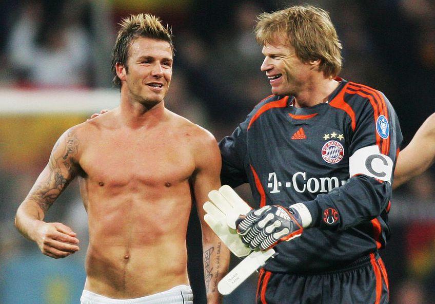 David Beckham și Oliver Kahn, foto: Guliver/gettyimages