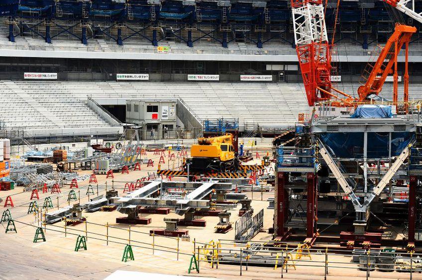 Stadionul olimpic din Japonia, în constucție, foto: Guliver/gettyimages.com
