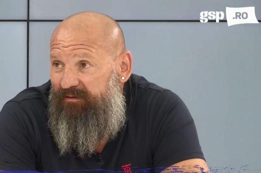 Bogdan Stelea în timpul emisiunii GSP Live