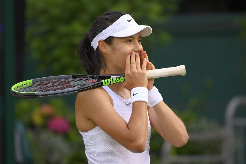 Emma Răducanu e în turul II la Wimbledon. FOTO: Guliver/Getty Images