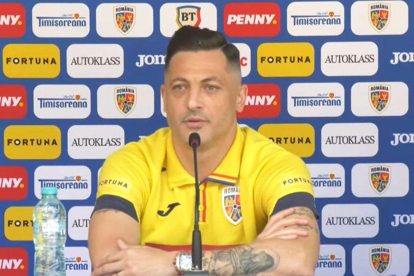 Mirel Rădoi, selecționer România // foto: captură FRF TV