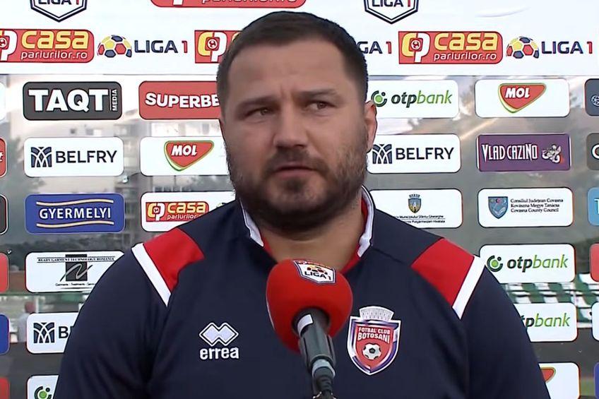 Marius Croitoru, antrenor FC Botoșani // foto: captură YouTube