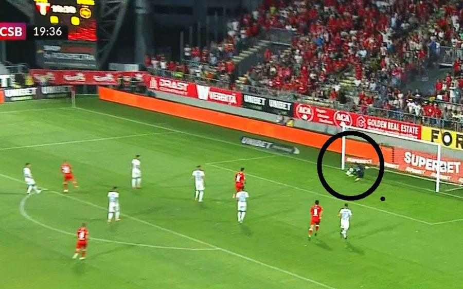 Cum a fost păcălit Straton la golul de 1-0 din UTA - FCSB