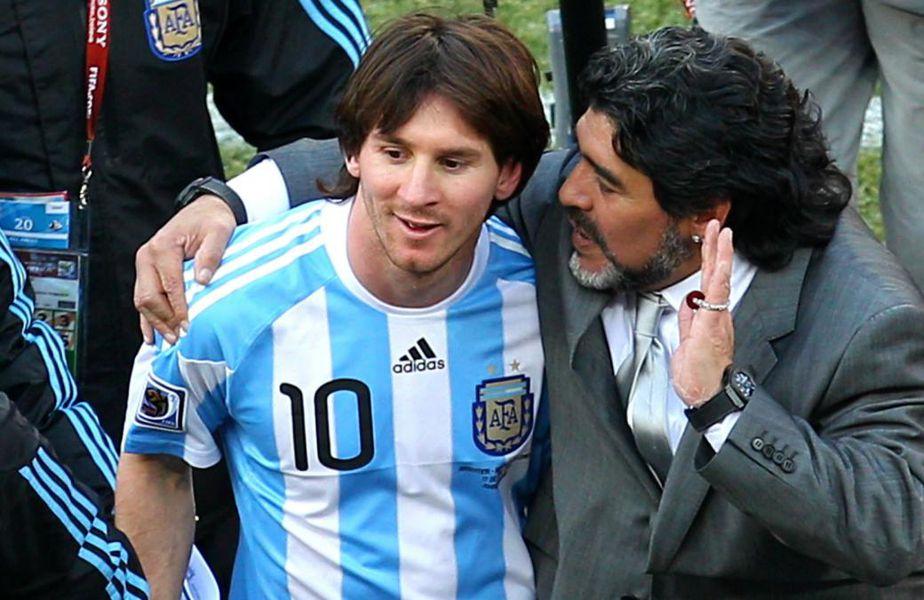 Lionel Messi și Diego Maradona