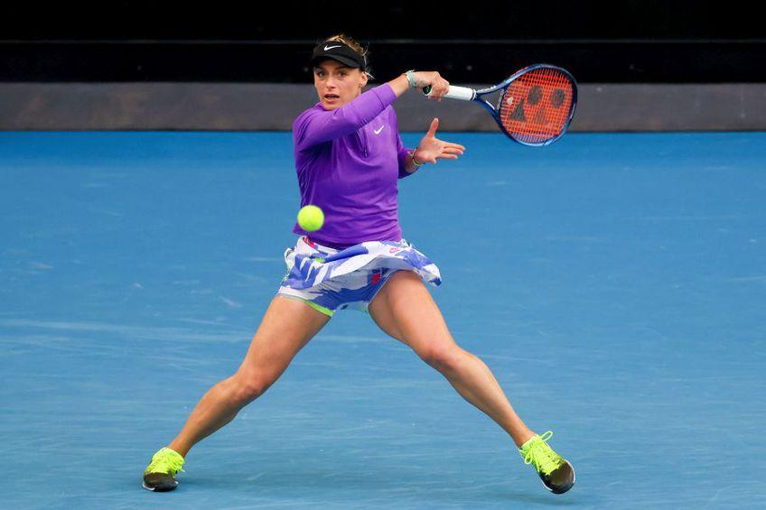 Ana Bogdan, în meciul cu Ashleigh Barty // foto: Guliver/gettyimages