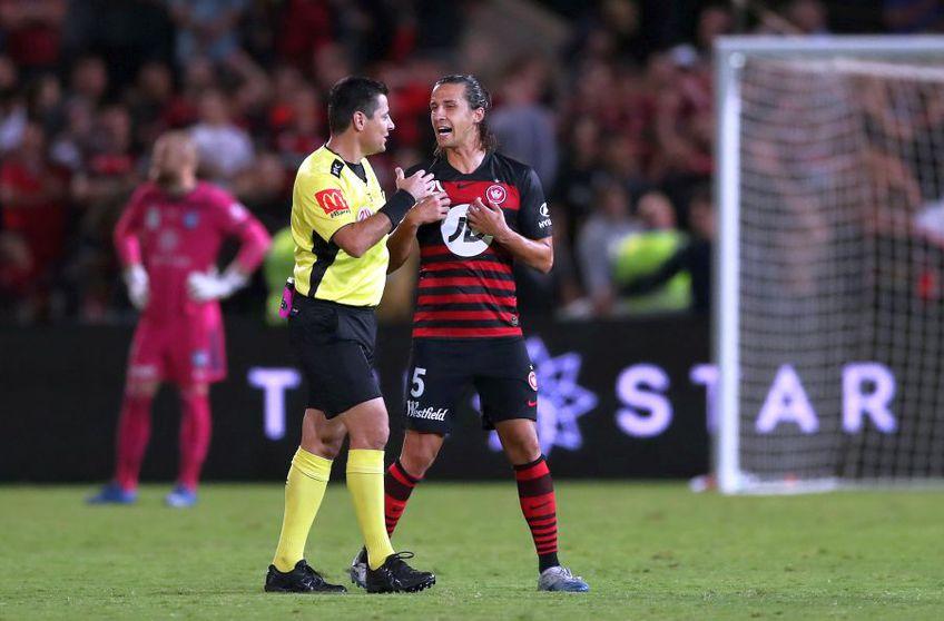 Daniel Georgievski în meciul contra Sydney FC // foto: getty