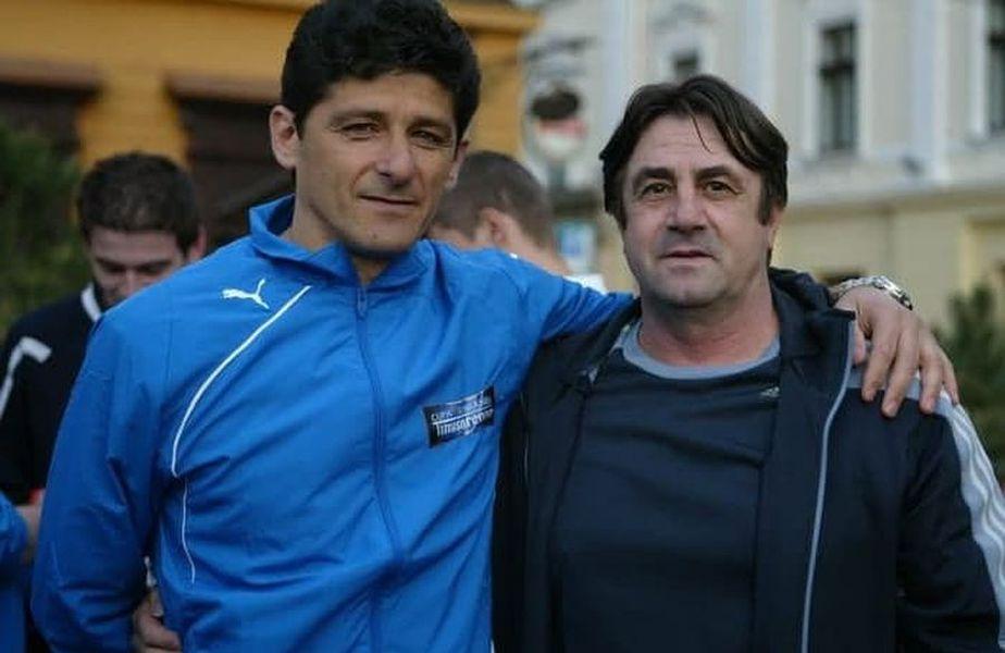 Miroslav Giuchici împreună cu conaționalul său sârb Miodrag Belodedici