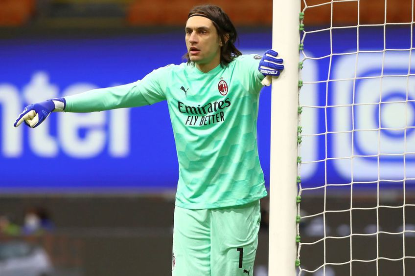 Ciprian Tătărușanu, la AC Milan // foto: Guliver/gettyimages