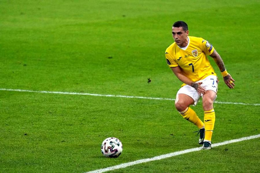 Nicolae Stanciu în meciul cu Germania, 0-1