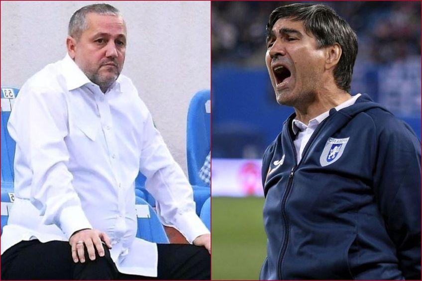 Victor Pițurcă, 64 de ani, fostul antrenor al Craiovei, continuă conflictul cu Mihai Rotaru, patronul oltenilor.