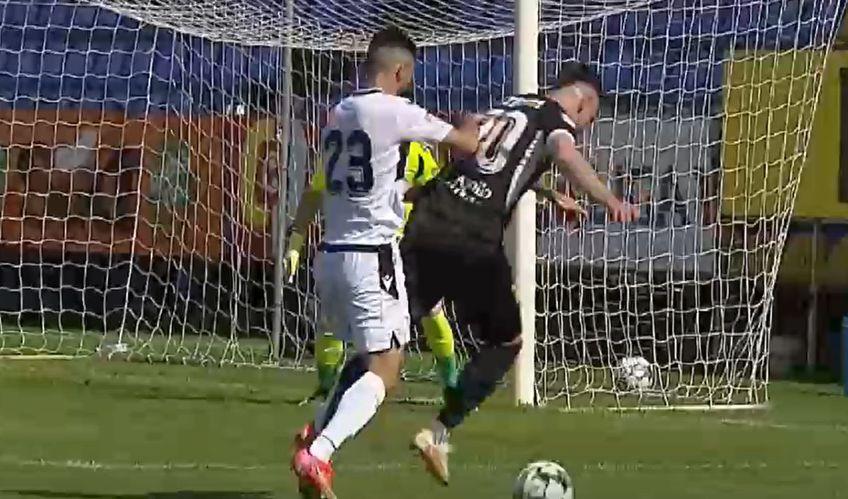 Momentul în care Vlad îl împinge pe Belu / Captură Digi Sport