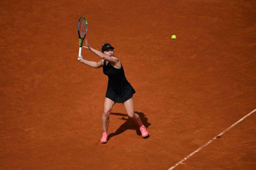 Simona Halep în meciul cu Saisai Zheng Foto Imago Images