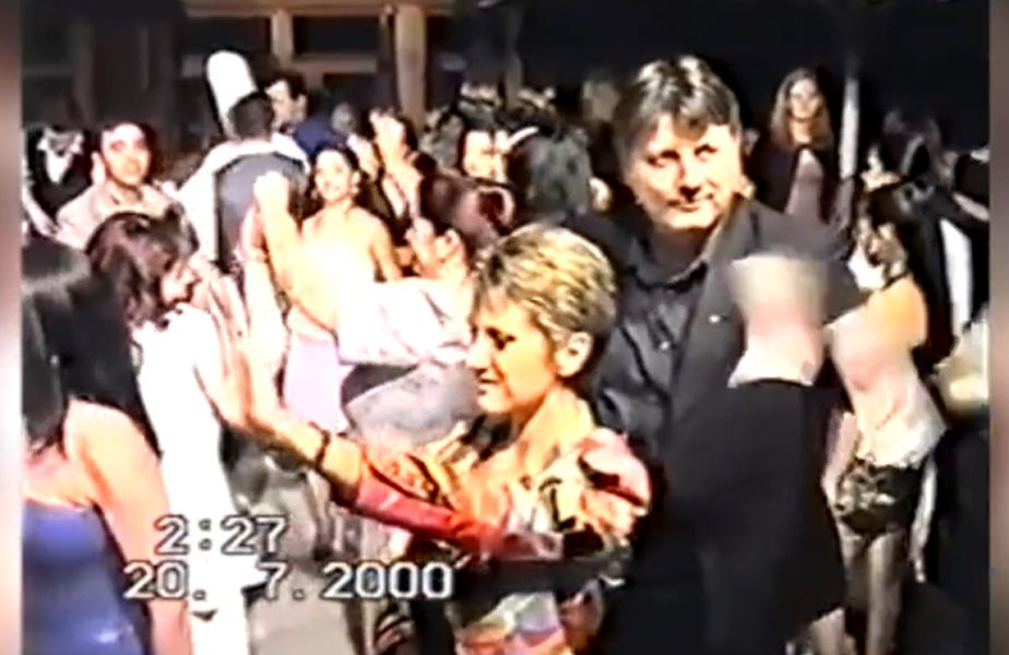 Gino Iorgulescu alături de soția sa Gabi, la o nuntă în anul 2000.