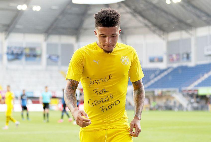 Sancho, de la Dortmund, cu mesajul pentru George Floyd, foto: Guliver/gettyimages