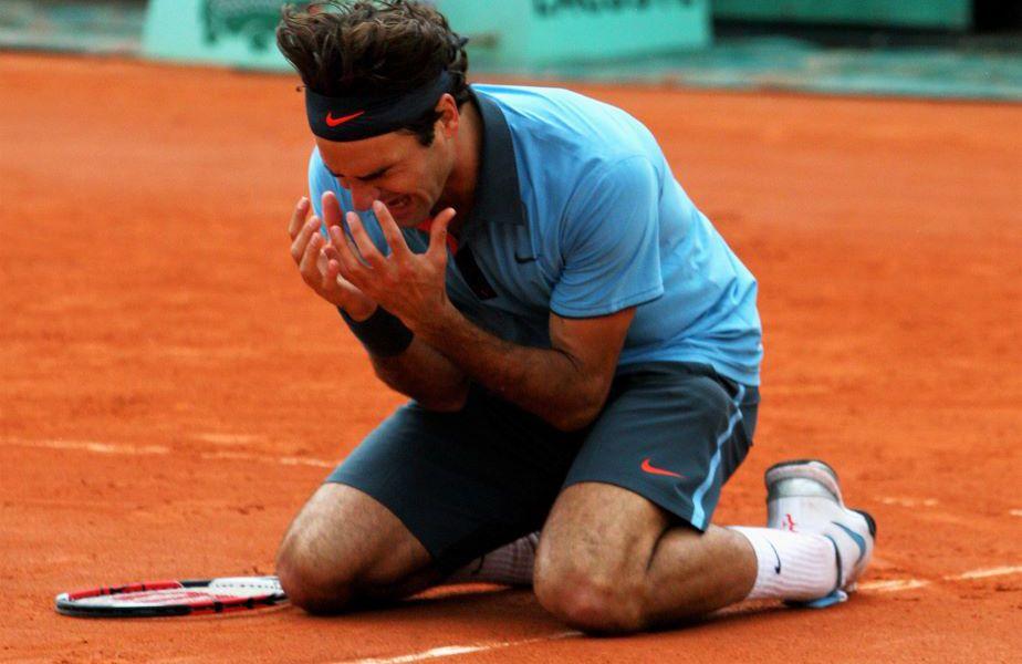 Roger Federer și reacția de după triumf Foto Guliver/GettyImages