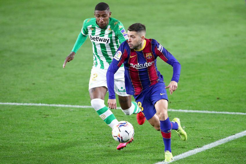 Emerson Royal, în duel cu Jordi Alba // foto: Guliver/gettyimages