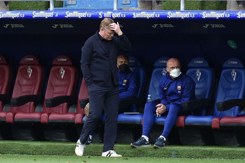 """Barcelona nu mai caută antrenor. Olandezul Ronald Koeman (58 de ani), pe """"Camp Nou"""" din 2020, rămâne și sezonul viitor pe banca echipei blaugrana."""
