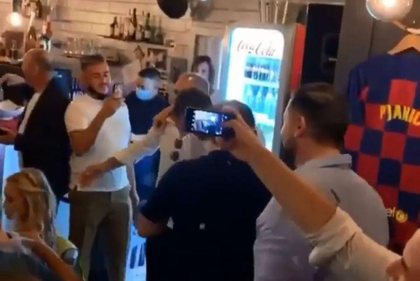Miralem Pjanic a fost îmbrățișat de tatăl său // foto: captură @ Instagram