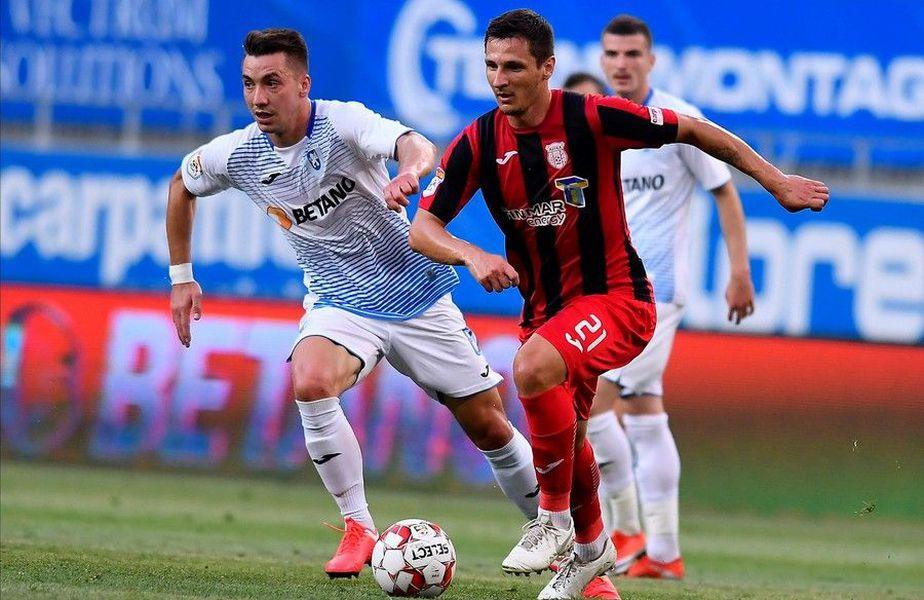 Meciul dintre Astra și Craiova a fost amânat după ce 4 fotbaliști ai giurgiuvenilor au fost depistați pozitiv cu coronavirus