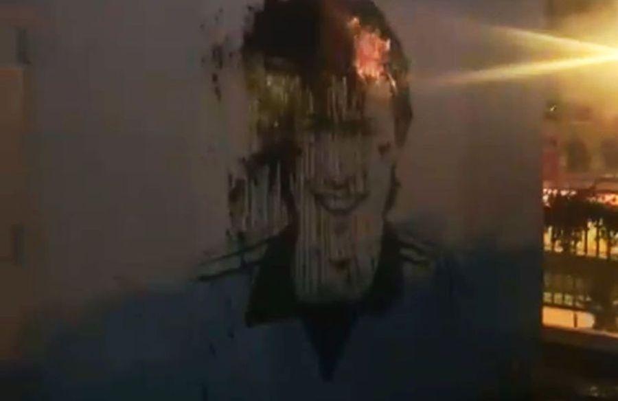 Muralul lui Sorin Cârțu, vandalizat de fanii lui FC U