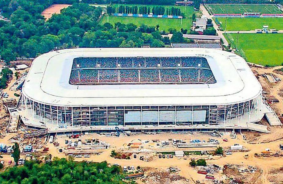 Așa ar putea arăta stadionul Steaua după montarea gazonului // foto: Instagram @ steauaofficial