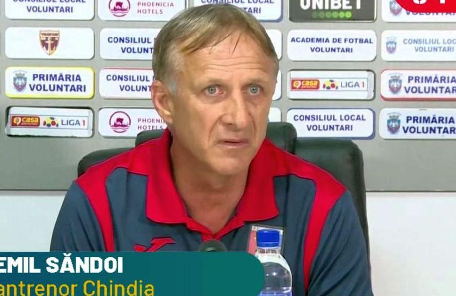 Chindia Târgoviște este prima echipă care a retrogradat matematic în Liga 2. Emil Săndoi, antrenorul dâmbovițenilor, a oferit declarații la finalul înfrângerii cu Poli Iași (0-1).