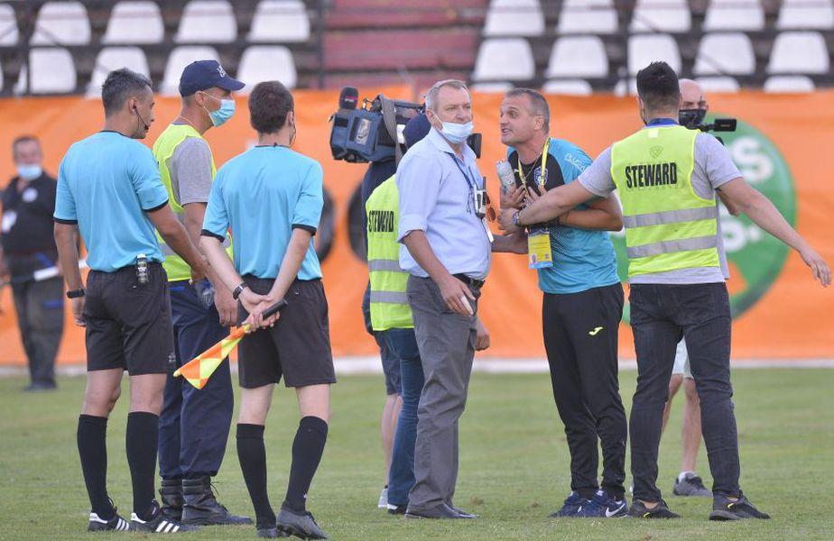 Jucătorii și staff-ul tehnic al lui lui Turris au răbufnit după meciul cu Rapid (1-1)