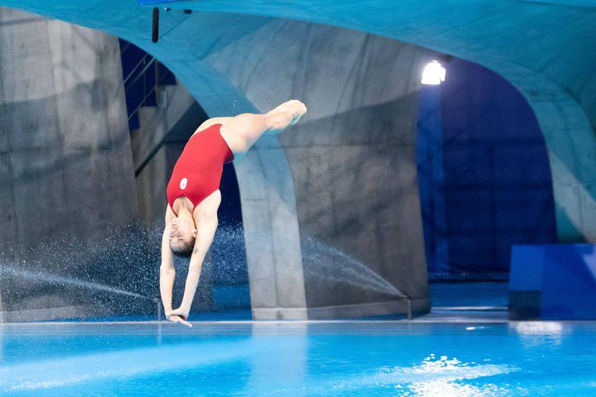 Canadianca Pamela Ware a făcut o greșeală incredibilă la sărituri în apă de la 3 metri
