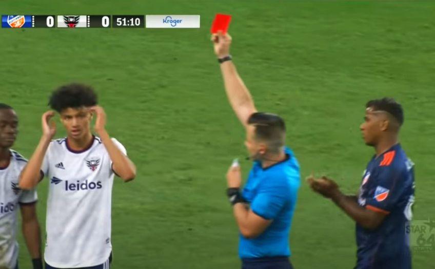 Cincinnati și DC United au remizat, scor 0-0, în MLS. Comentatorul partidei a oferit un moment amuzant în minutul 52, la eliminarea lui Moses Nyeman.