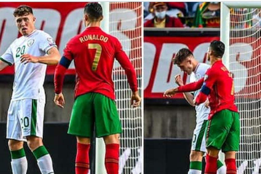 Gestul lui Cristiano Ronaldo din meciul cu Irlanda / Sursă foto: ABP Live