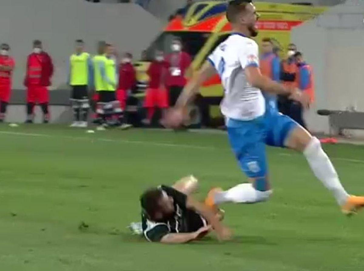 Accidentare Elvir Koljic - Craiova - Poli Iași / 2.10. 2020