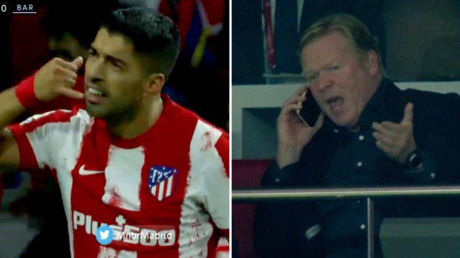Atletico Madrid, victorie fără emoții cu Barcelona » Diego Simeone, lecție pentru Ronald Koeman! Gestul ironic făcut de Suarez după gol