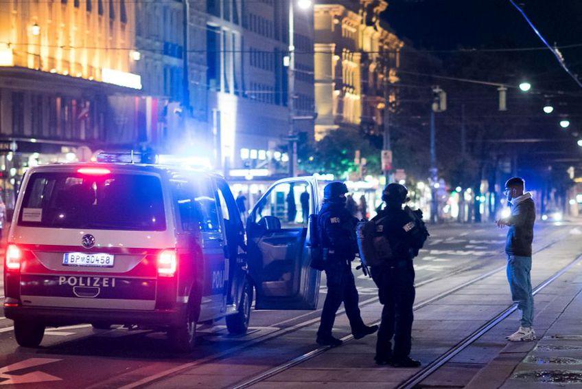 Poliția acționează în centrul Vienei. Sursă foto: Guliver/Getty Images