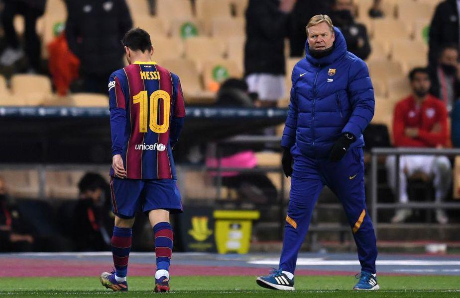 Leo Messi și Ronald Koeman foto: Guliver/Getty Images