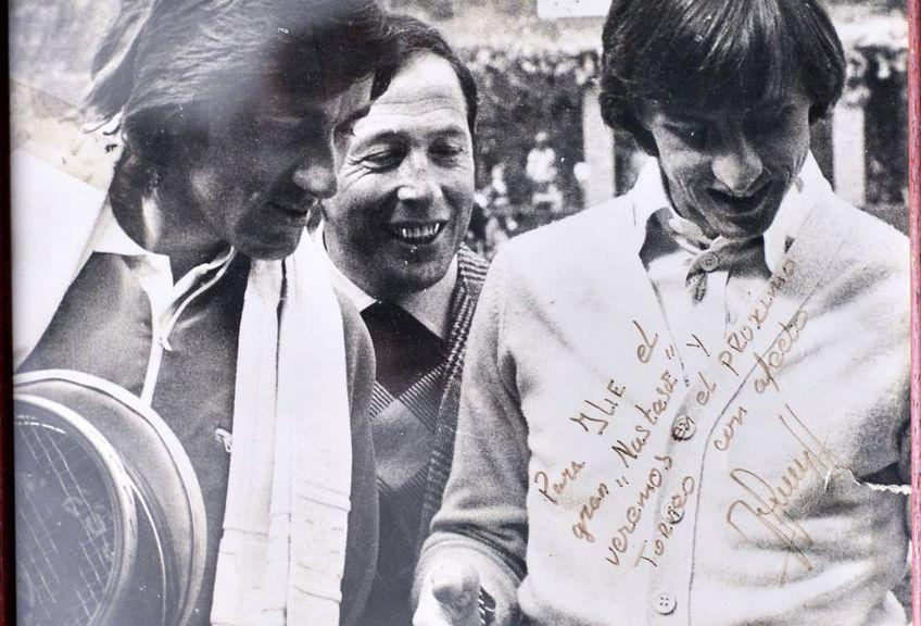 Ilie Năstase, stânga, și Johan Cryuff, dreapta, foto: arhiva lui Năstase/GSP