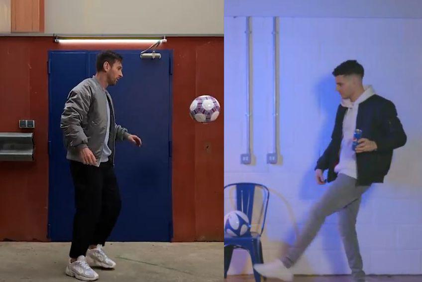 Ianis Hagi și Leo Messi, în reclama celor de la Pepsi