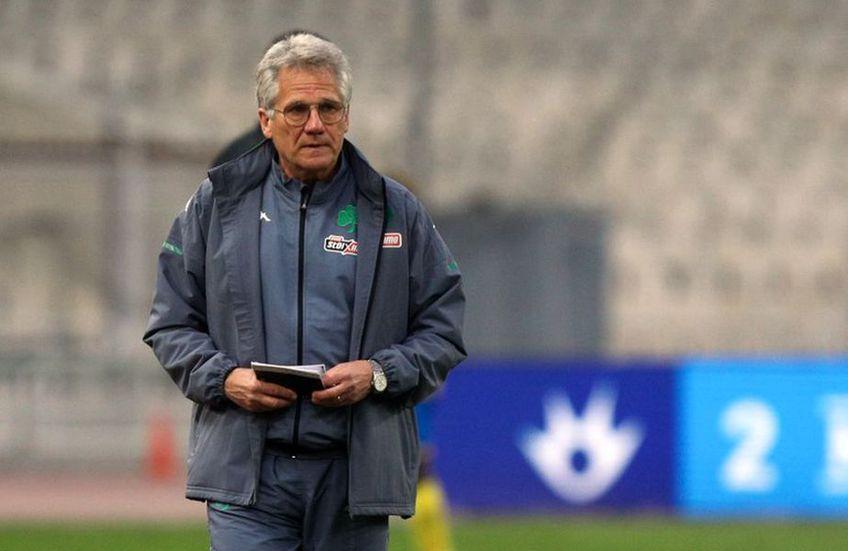 """Panathinaikos, echipa antrenată de Ladislau Boloni (67 de ani), a părăsit Cupa Greciei, în """"sferturi""""."""