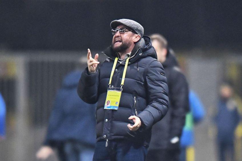 """Viorel Moldovan, 48 de ani, antrenorul Petrolului, pune înfrângerea cu Astra (0-3) din """"sferturile"""" Cupei României pe seama diferenței de valoare dintre primele două eșaloane."""