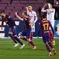Barcelona s-a calificat în finala Copa del Rey, după ce a trecut - scor 3-0 - de Sevilla, în returul semifinalelor. Andaluzii câștigaseră prima manșă cu 2-0.